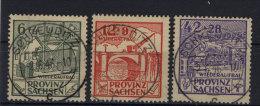 Provinz Sachsen Michel No. 87 - 89 A gestempelt used