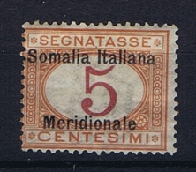 Italia Colonie - Somalia: Segnatasse Sa 1, Mi. 1  MH/* - Somalie