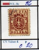 POLAND:PROVSIONAL #CLASSIC DEFINITIVES (POL 250-1 (9) - 1919-1939 Republik