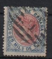 25 M. Azul Y Rosa ; Edifil No.95; Michel Nr.88, Usado - Usados