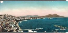 1956 NAPOLI CARTOLINA PANORAMICA 10X21 PANORAMA V SEE 2 SCANS - Napoli