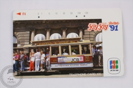 Japan Collectible Train Phone Card - City Tram - Powel & Hyde Sts. - Trenes