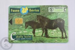 Spanish Collectible  Phone Card Telefonica: Fauna Iberica - Caballo Losino/ Equus Caballus Losinus - Horse - Caballos