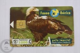 Spanish Collectible  Phone Card: Fauna Iberica - Aguila Imperial (Aquila Heliaca Adalberti)/ Spanish Imperial Eagle - Aigles & Rapaces Diurnes