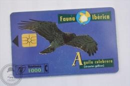 Spanish Collectible  Phone Card: Fauna Iberica - Aguila Culebrera ( Circaetus Gallicus)/ Short-toed Snake Eagle - Águilas & Aves De Presa