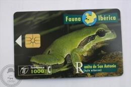 Spanish Collectible  Phone Card Telefonica: Ranita De San Antonio ( Hyla Arborea) European Tree Frog - Tarjetas Telefónicas
