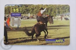 Antel Uruguay Collectible Phone Card: Jineteada - Deportes