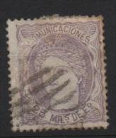 25 M. Lila ; Edifil No.106; Michel Nr.100, Usado - Usados