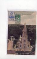 OBLITERATION Le Havre Sur Timbres  Belges  1915 Sur Carte Le Havre  , Eglise Sainte-Adresse