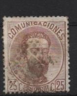 25c . Castaño ; Edifil No.124; Michel Nr.115, Usado - Usados