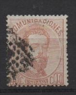 40 C . Castaño ; Edifil No.125; Michel Nr.116, Usado - Usados