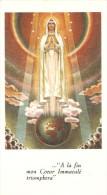 IMAGE RELIGIEUSE PIEUSE CINQUANTENAIRE APPARITIONS FATIMA PRIERE AU VERSO - Santini