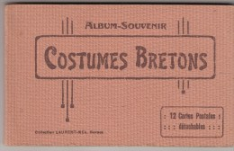 CARNET DE 12 CARTES - COSTUMES BRETONS - Bretagne