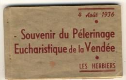 Carnet De 20 Cartes Du Pélerinage Eucharistique De Vendée Du 4 Août 1936. Toutes Cartes Avec Animation. - Les Herbiers