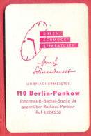 K1355 / 1975 UNRED SCHMUCK REPARATUREN - BERLIN Jewelry Stores  Calendar Calendrier Kalender - DDR Germany Deutschland - Calendarios