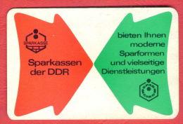 K1363 / 1975 SPARKASSEN - BIETEN IHNEN MODERNE SPARFORMEN UND VIELSEITIGE - Calendar Calendrier Kalender - DDR GERMANY - Calendarios