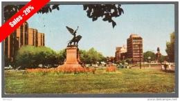 1961 SANTIAGO DE CHILE PANORAMIC POSTCARD 9X17,5cm PLAZA ITALIA V SEE 2 SCANS - Chile
