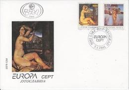 Europa Cept 1993 Yugoslavia 2v FDC (12787) - 1993
