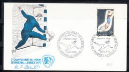 ANDORRA  1970  .FDC.CAMPEONATO DEL MUNDO DE BALONMANO   .CN 1983 - Andorra Francesa