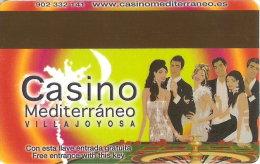 TARJETA DE HOTEL CASINO MEDITERRANEO VILLAJOYOSA (ESPAÑA) GRUPO BALI - Tarjetas De Casino