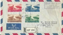 Lettre Recommandée Par Avion De Beyrouth Pour Les Etats-Unis, 1954 - Liban