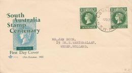 AUSTRALIA 1955 - FDC 2 X 3,5D MEF - 1952-65 Elizabeth II: Dezimalausgaben (Vorläufer)