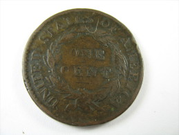 US USA 1 ONE LARGE CENT CORONET 1818 COIN  HIGH GRADE LOT 27 NUM 16 - Federal Issues