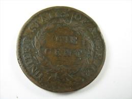 US USA 1 ONE LARGE CENT CORONET 1818 COIN  HIGH GRADE LOT 27 NUM 16 - 1816-1839: Coronet Head (Testa Coronata