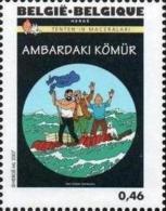 BELGIQUE 3638 ** MNH Centenaire HERGE Tintin Kuifje : Coke En Stock - Radeau Esclavagisme - Bandes Dessinées