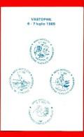 ITALIA - 1985  - Vastophil ´85 - Cartoncino - Esposizione Di Filatelia Tematica - Vari Annulli - 1981-90: Poststempel