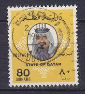 Qatar 1981 Mi. 757    80 D Scheich Khalifa Bin Hamad Al-Thani Deluxe DOHA Cancel !! - Qatar