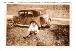 Automobile - Photo Originale - Voiture à Identifier - Format 8.7 X 6.2.cm - Coches