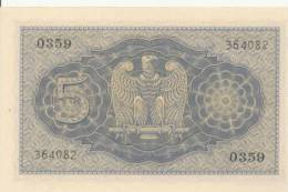 ITALY  P. 28 5 L 1944 UNC - [ 1] …-1946 : Kingdom