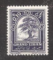"GRAND LIBAN,1925  , Yvert N° 50, "" Cèdre ""0 Pi 10 Violet , Neuf *, TB - Grand Liban (1924-1945)"
