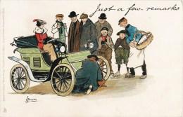 "ILLUSTRATOR L. THACKERAY  "" JUST A FEW REMARKS "" PANNE D´AUTOMOBILE CAR VOITURE TACOT HUMOR HUMOUR - Altre Illustrazioni"