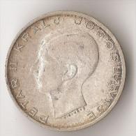 YOUGOSLAVIE   20  DINARA  1938  ARGENT - Joegoslavië