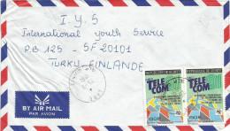 Guinee Guinea 1991 Labe ´telecom Satellite IUT Expo Geneva Cover - Guinee (1958-...)