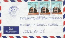 Guinee Guinea 1991 N´Zerekore Telecom Transit Centre Cover - Guinee (1958-...)