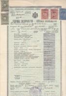CROATIA  --  KOSTAJNICA  --  NEAR SISAK  --  SVEDOCANSTVO   --  1936  --   WITH TAX STAMP - Diplome Und Schulzeugnisse