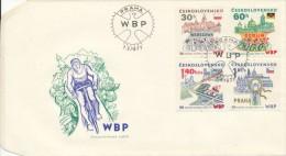 Czechoslovakia / First Day Cover (1977/05), Praha - Theme: 30th Peace Race (WBP Warsaw - Berlin - Prague) - Cyclisme