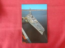 USS Massachusetts   Not Mailed    Ref 1319 - Guerra