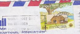 1991 Air Mail PAPUA NEW GUINEA COVER ANGLICAN CHURCH ANNIV Stamps SLOGAN Pmk WORLD POST DAY Religion Christianity - Christianity