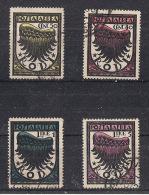 COLONIE ITALIANE EGEO  1934 POSTA AEREA ALA STILIZZATA SASS.30-33 USATA XF - Egeo