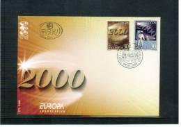 Jugoslawien / Yugoslavia / Yougoslavie 2000 Europa Cept FDC - Europa-CEPT