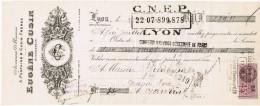 1940 ANCIENNES MAISONS A. FONTAINE & CUSIN FRERES EUGENE CUSIN SUCCESSEUR 39 RUE PAUL CHENAVARD LYON - Letras De Cambio