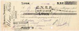 1933 RUBANS DOIERIES ULMO FRERES SUCCESSEUR 38 RUE DE L'HOTEL DE VILLE LYON - Letras De Cambio
