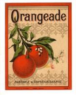 étiquette ,  ORANGEADE , Agréable & Rafraichissante - Etiquettes