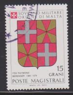SMOM Sovereign Military Order Of Malta Mi 251 Grand Masters Coat Of Arms - Fra' Raymond Bérenger - 1986 - Malta (Orde Van)