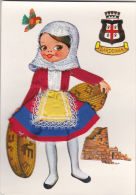 NOVELTY - ITALIAN COSTUME - EMBROIDERED @ SILK DRESS - Postcards