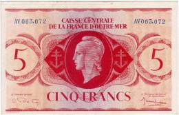 CAISSE CENTRALE DE LA FRANCE D´OUTRE MER - 5 Francs - - Billets
